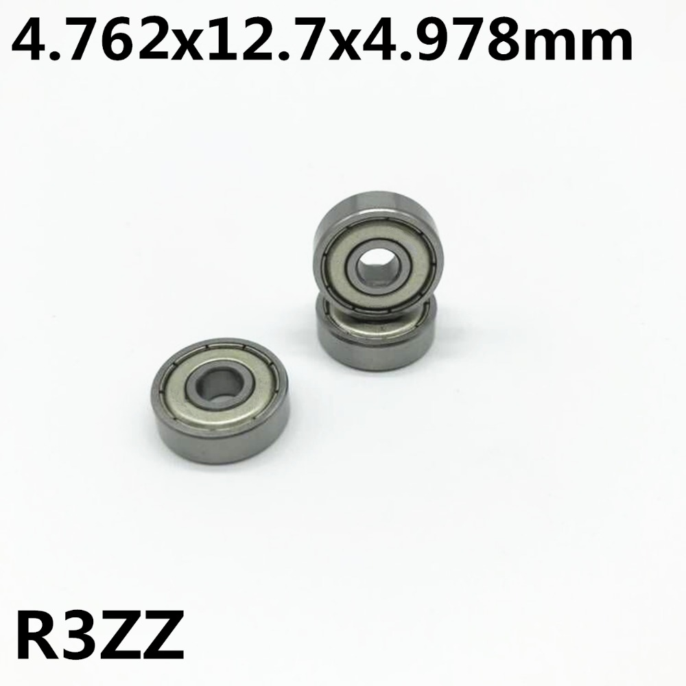 50pcs R3ZZ 4.762*12.7*4.978mm 3/16 X 1/2 X 0.196 Inch Deep Groove Ball Bearing Miniature Bearing High Qualit R3Z