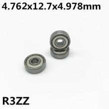 50pcs R3ZZ 4.762*12.7*4.978mm 3/16 x 1/2 x 0.196 inch Deep groove ball bearing Miniature bearing High qualit R3Z