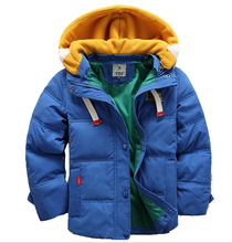 1111 Sale High quality 4-10Yrs Boys coats winter blue Jacket kids Casual Boys thick Winter jacket Christmas Boy Winter Coat