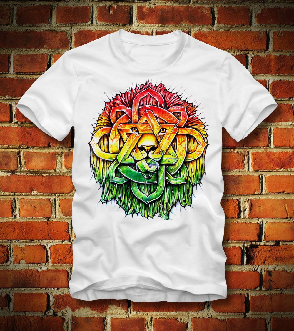 T Shirt Rasta Lowe Iron Lion Of Judah Zion Bob Marley 2019 Brand New Men Clothing Fashion Men'S T Shirts Design Shirt