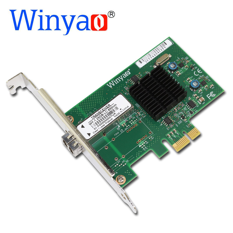 все цены на Winyao WY576F PCI-Express 2.0 x1 SFF LC 850nm Fiber Gigabit Ethernet Network Adapter(NIC) For Intel 82576 E1G42EF lan онлайн