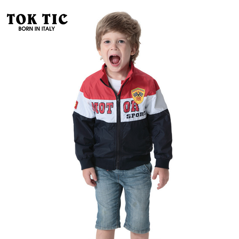 86575932779c TOK TIC spring autumn kid boys jackets fashion casual coat boy jacket  letter printed outerwear coat for children clothes-in Jackets   Coats from  Mother ...