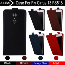 AiLiShi For Fly Cirrus 13 FS518 Case Up And Down 100% Special Vertical Phone Flip Leather Case FS 518 Fly Phone Accessories смартфон fly fs518 cirrus 13 midnight red