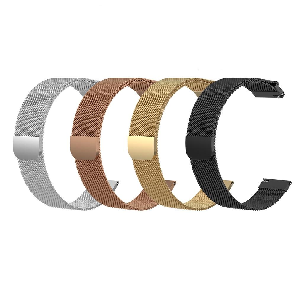For Fossil Gen 4 Q Venture HR /Gen 3 Q Venture Watch Strap Watchband Band Belt Milanese Loop Quick Release Spring Bars