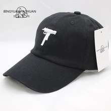 BINGYUANHAOXUAN Defend Automatic Rifles Embroidered Mens Hats Curved Eaves Retro Army Style Cap Casual Snapback Baseball Caps