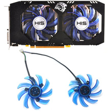 все цены на Original 85mm FDC10H12S9-C 4PIN PC Cooling fan GPU Graphics card fan replacement For HIS RX 470 Turbo RX 470 OC 4GB RX474 RX570 онлайн