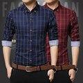 2015 New 8Color Fashion Shirt Mens Slim Fit Social Man long Sleeve Shirts Men's Clothing Slim Casual shirts 5 Size XXXL