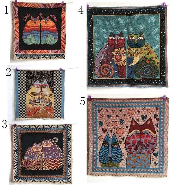 Katze dekorative kissen baumwolle leinen diy fühlte tuch für textile ...