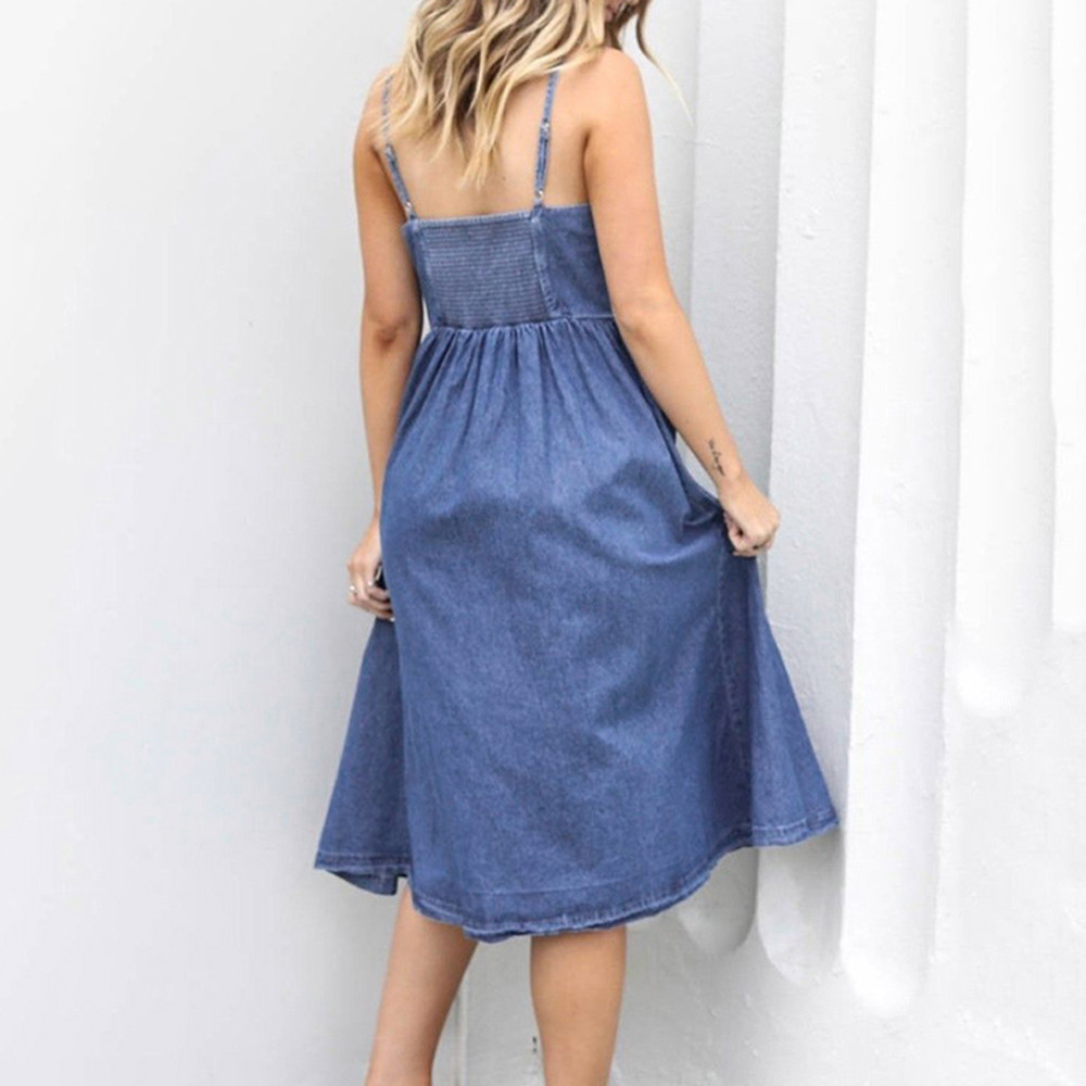 S-XL-Women-Holiday-Strappy-Button-with-Pockets-Denim-Dress-Summer-Beach-Midi-Swing-Dress-Sexy (3)