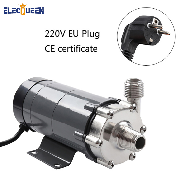 Magnetic Drive Pump 15R With Stainless Steel Head,Beer Brewing 220V European Plug with 1/2 NPT thread