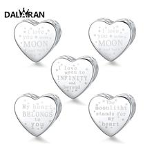 DALARAN Love Letter Charms Silver 925 Jewelry Sterling Silver Loving Beads Fit Charm Bracelet Necklace For Women DIY Accessories