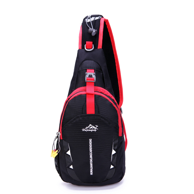 Mens Womens Nylon Sling Bag Chest Shoulder Hiking Bicycle Bag Backpack Navy