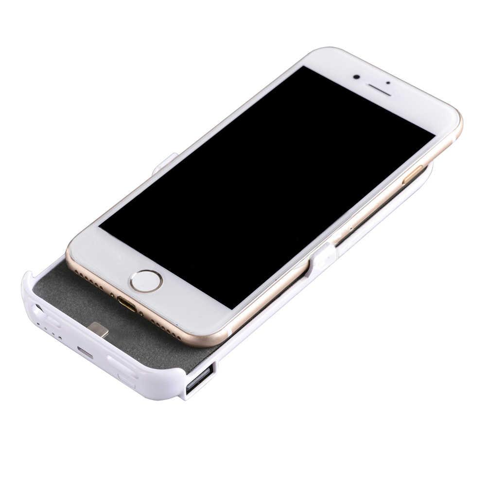 Супер акция батарея зарядное устройство Чехлы для iphone 6 7 plus power Case зарядное устройство Чехлы 5000 мАч 8000 мАч