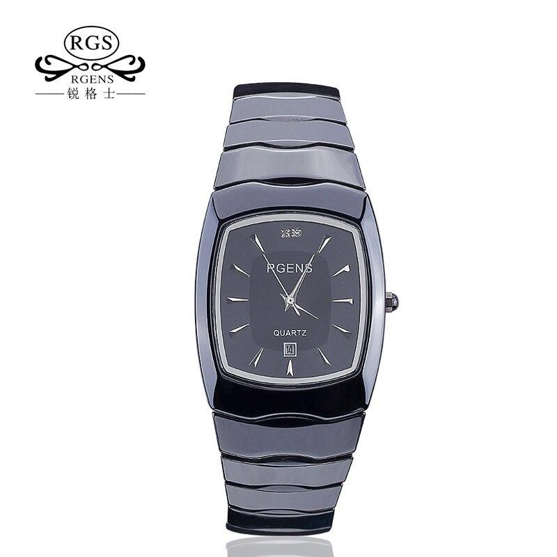 De luxe hommes femmes céramique montres dames de quartz de mode mâle Couple horloges Carré étanche dame homme montres casual