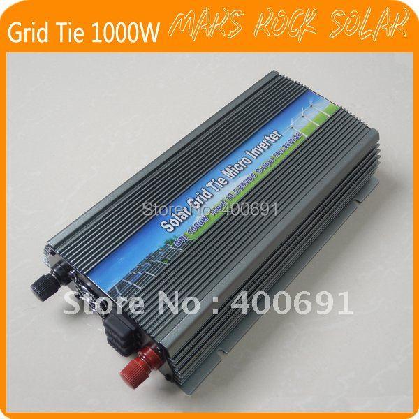 Grid Tie 1000W Pure Sine Wave Solar Inverter for 18V 1250W PV Power, 10.5V~28VDC, 90V-140V/180V~260VAC, 50Hz-60Hz, Free shipping