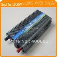 Grid Tie 1000W Pure Sine Wave Solar Inverter for 18V 1250W PV Power, 10.5V~28VDC, 90V 140V/180V~260VAC, 50Hz 60Hz, Free shipping