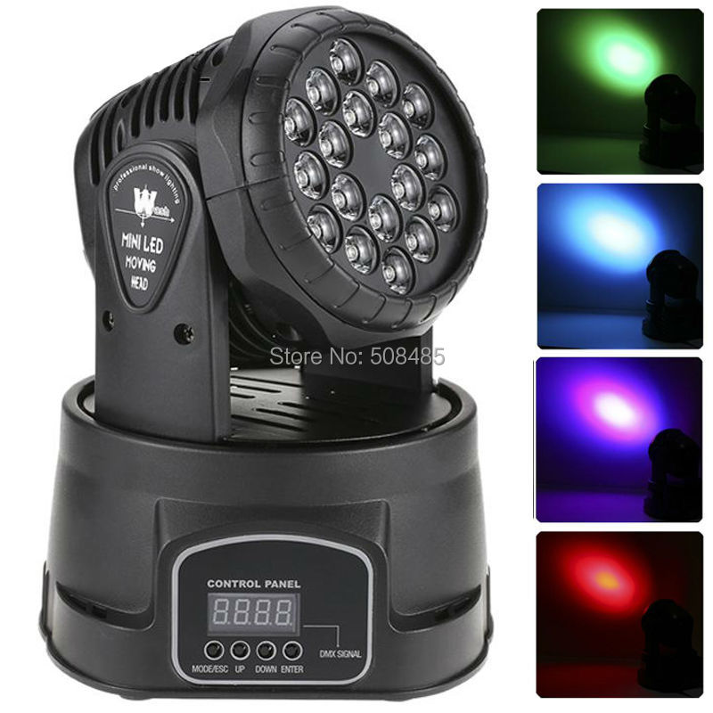Fast Shipping 18x3w RGB LED mini Moving Head Light Moving Head Wash Light For Event,Disco Party Nightclub fast shipping professional stage lighting led mini 18x3w wash moving head light for event disco party nightclub