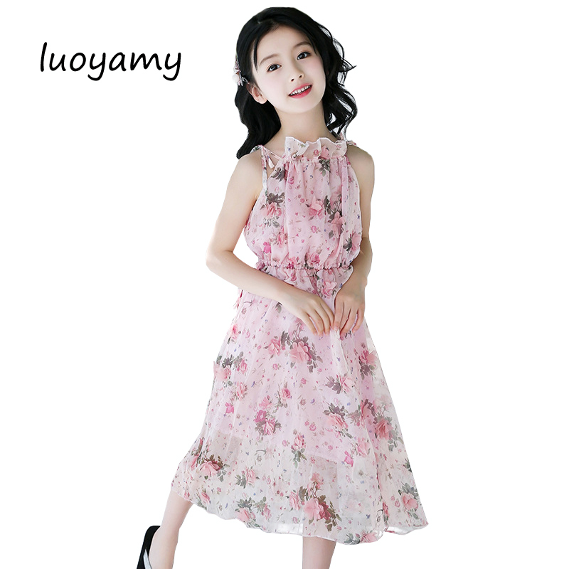 luoyamy 2018 Kids Girls Flower Dress Baby Girl Birthday Party Dresses Children Fancy Princess Ball Gown Wedding Long Clothes girls party dresses elegant 2017 summer short sleeve flower long tail princess girl dress children kids wedding birthday dresses