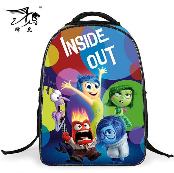 2017 Fashion Children School Bags 3d Cartoon Inside Out Backpack Boy Students Schoolbag Book Bag Kids Mochilas In From Luggage On