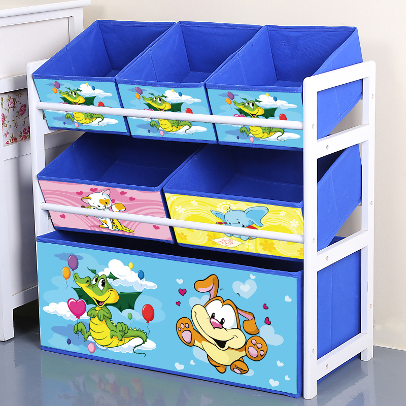 Louis Fashion Children Cabinets Solid Wood Toys Storage Finishing Shelves Children's Household Toys Storage #2