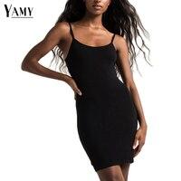 Summer Sexy Cami Bodycon Dresses Women Sleeveless U Neck Backless Mini Beach Dress 2017 New Arrivla