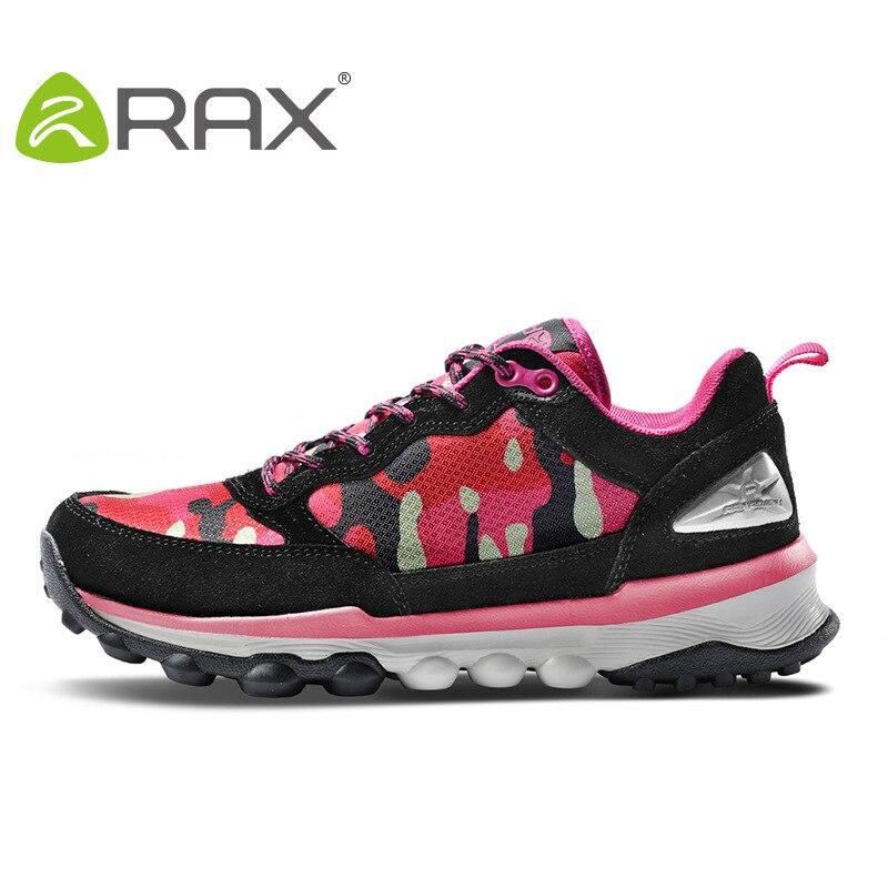 RAX hiking sports shoes women slip non outdoor school shoes genuine leather mesh lightweight mountain hiking shoes #B2090