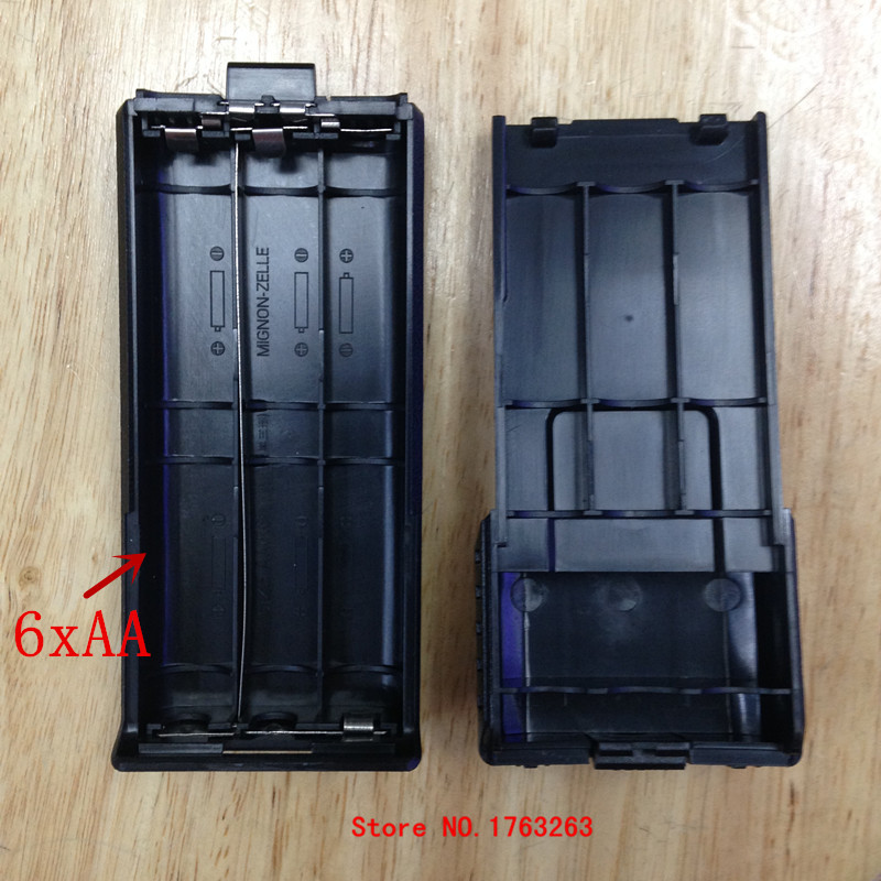 Honghuismart batterie box case shell 6 AA pour baofeng bf uv5r, uv5re tonfa tf uv985, tyt th f8 etc talkie walkie radio bidirectionnelle