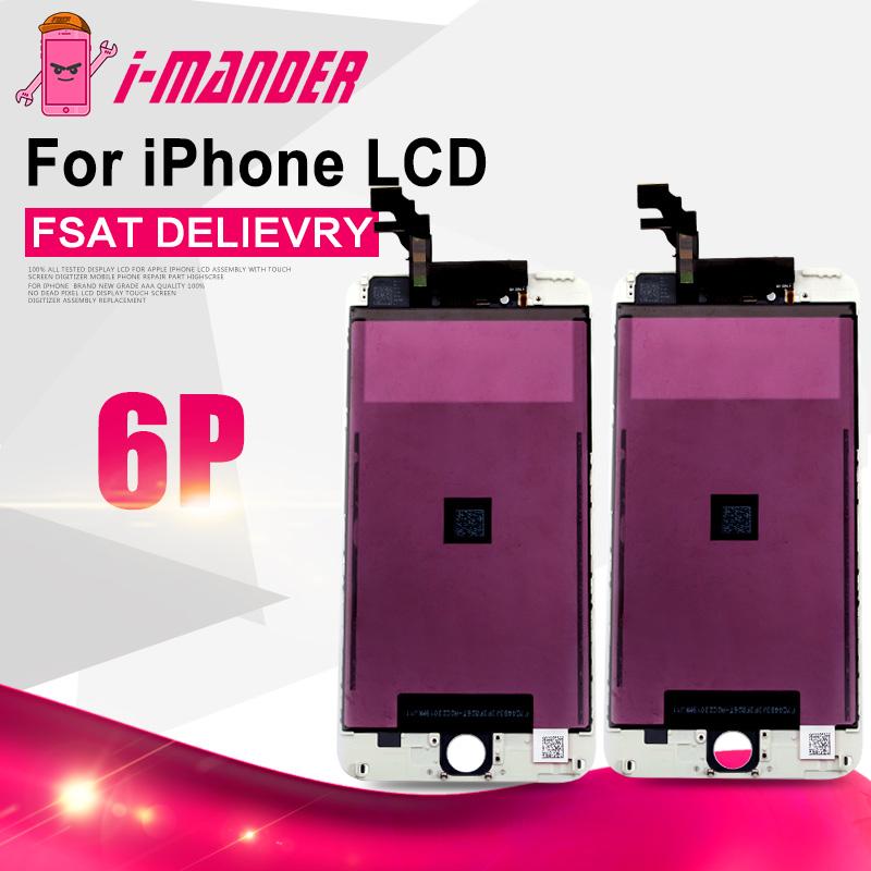 """Prix pour AAA + + + Bonne Qualité Usine En Vrac Vente Chaude 100% Garantie Pour iPhone 6 Plus 5.5 """"LCD Tactile Écran Avant Remplacement Assemblée"""
