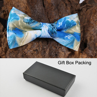 Gift Box Packing Top Level PU Bowtie Wedding Party Man S High Quality Butterfly Famous Painting