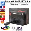 Lo nuevo IP-S2 Plus HD DVB-S2 IPTV caja IPS2 + con 1 año Europa y suscripción 1000 + canales Árabe iptv Un paquete enviado por DHL