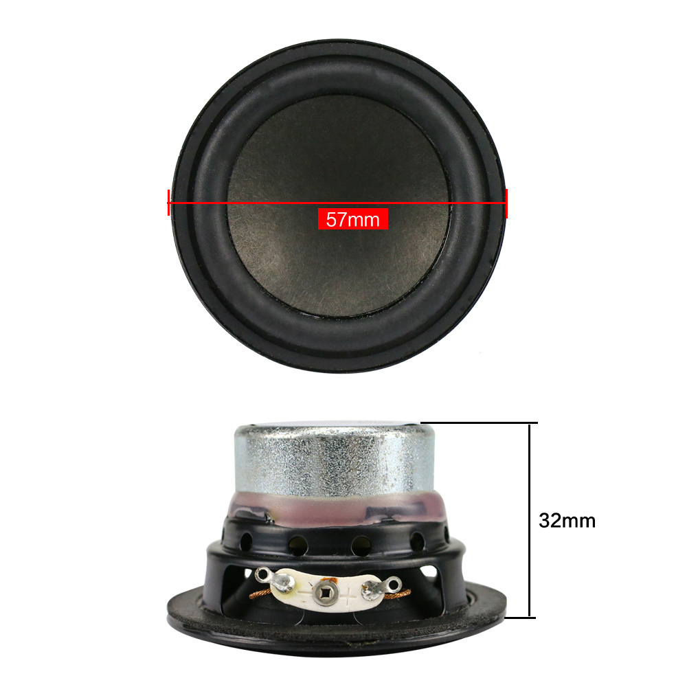 GHXAMP 2 inch Full Range Speaker Unit 15W Bluetooth Speaker DIY Neodymium  Round Loudspeaker For Mini Speakers 2PCS