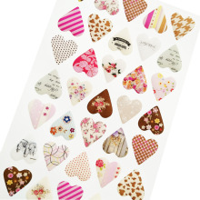 цены 1pcs/lot New novelty 3D heart style quality PVC sticker DIY Multifunction label Scrapbooking stickers