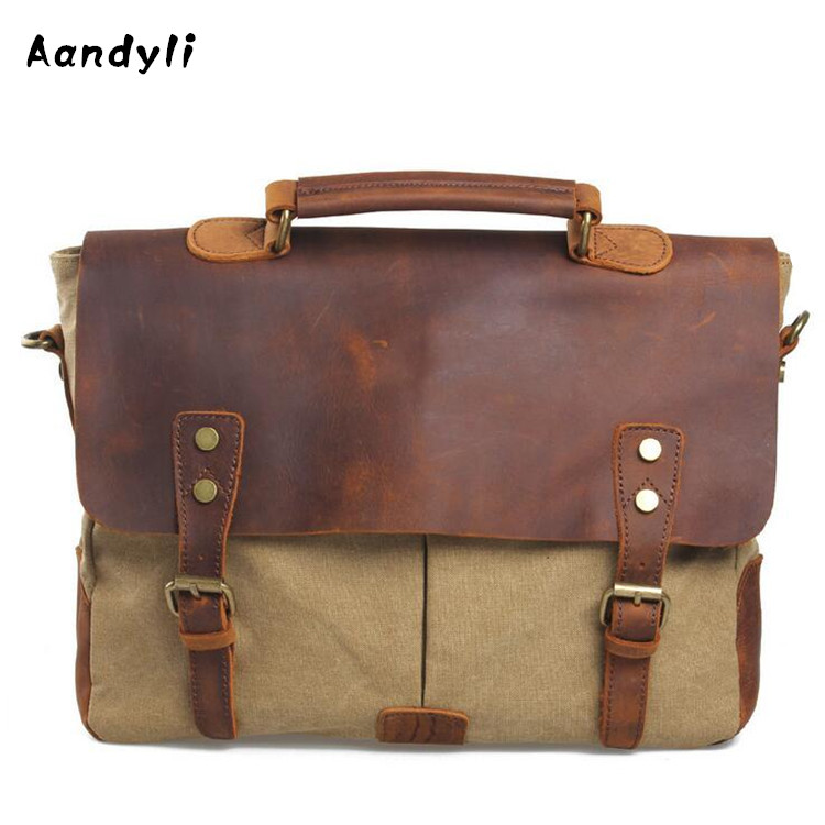 Water Wash Canvas Handbags Men Shoulder Bag Leather Crossbody Bag Large Casual Travel Messenger Bags canvas leather crossbody bag men military army vintage messenger bags large shoulder bag travel bags