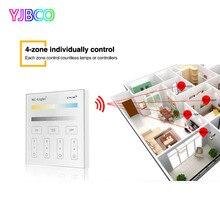 4-Zone Milight T2 Adjust CCT Smart Panel Remote Controller color temperature and brightness for led strip light AC220V все цены