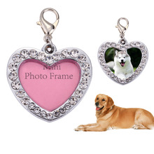 Pet Dog Love Heart Shaped Name Card