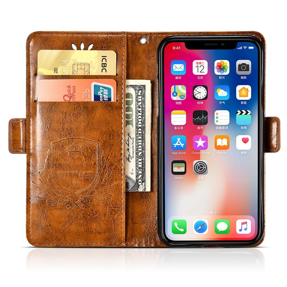 Image 3 - BQ Aquaris X2 Pro Case Vintage Flower PU Leather Wallet Flip Cover Coque Case For BQ Aquaris X2 Pro Phone Case Fundas-in Wallet Cases from Cellphones & Telecommunications