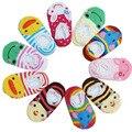 5 pcs Do Laço Do Bebê Meias Com Sola De Borracha Sapo Coelho Durk Anti Deslizamento Meias Bebê Meninas Vestuário Infantil Animais Recém-nascidos Sapatilha meias
