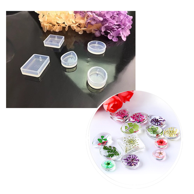 5Pcs/ Set Water Drop Silicone Mold For Forms Crystal Diamond Bracelet Pendant Jewelry Mould Casting