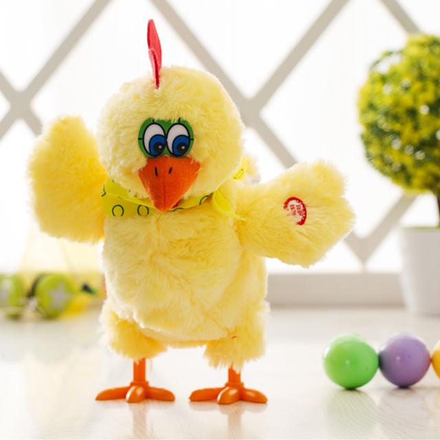 1 Pcs Push Galinha Dos Ovos de Galinha Do Brinquedo Eletrônico com Música Luz do Flash Brinquedos para Crianças Bonecas para Meninas