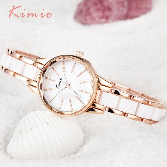 KIMIO Multi Cut Surface Clock Women Watches Bracelet Watch Ladies Famous Brand W