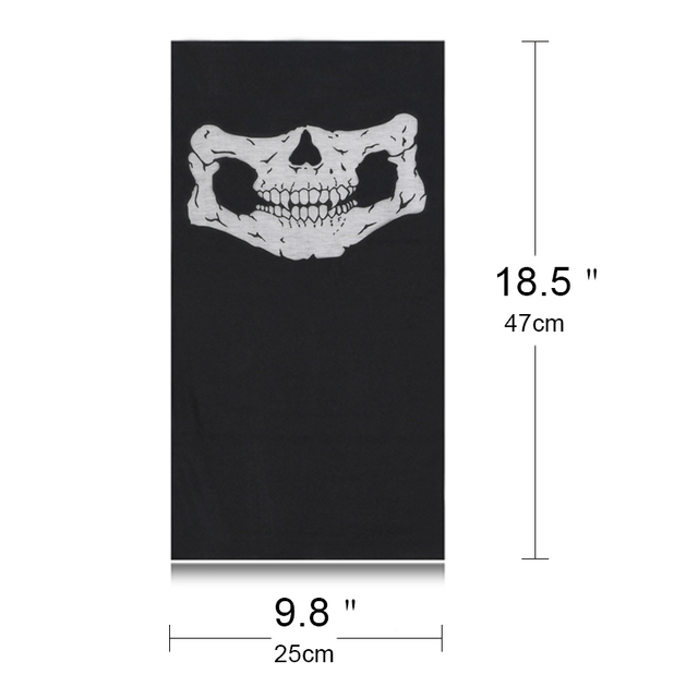 Bicycle Ski Motor Bandana Motorcycle Face Mask Skull For Motorcycle Riding Scarf Women Men Scarves Scary Windproof Face Shield 4