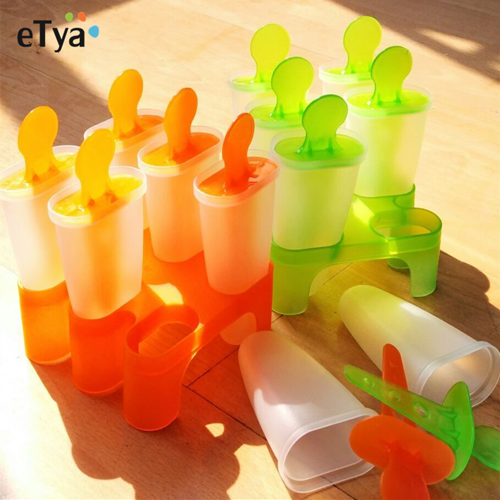 FPBS 9 x Mini Silicone Ice Cream Moulds Popsicle Molds Wonderful Tools for Party by FPBS Stick Ice Cream Lolly Maker Tool Set BPA-free Ice Pop