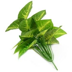 Image 3 - 1Bunch 28CM/48CM  Artificial Silk Green Scindapsus Aureus Leaf for Wedding Decorations Fake Bonsai Tree Plant  Accessories