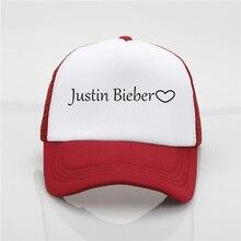 Sombrero de moda Justin Bieber impresión red gorra de béisbol hombres y mujeres  verano tendencia nueva 9391e618d4c