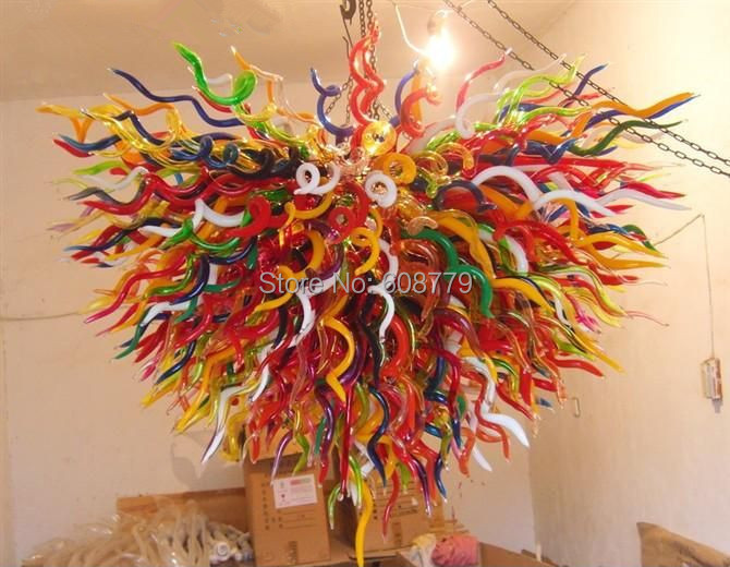 Free Shipping Factory Price Blown Glass Chinese Chandelier