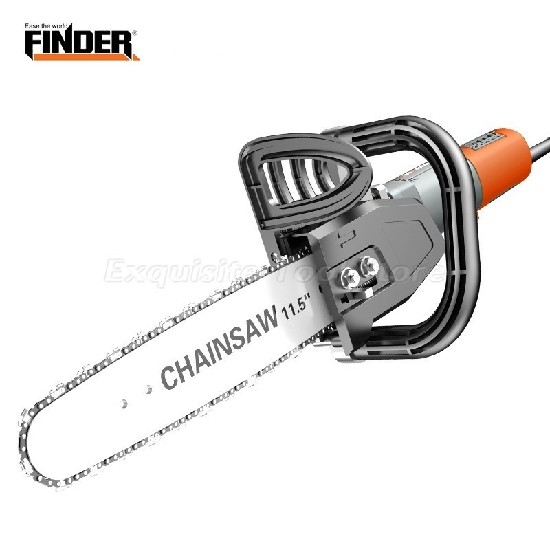 FINDER Upgrade Chainsaw Bracket Changed Angle Grinder Into Electric Chain Saw Wood Cut Converter Power Tool Tree Felling