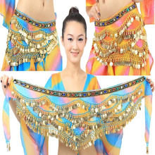 New Arrival 2016 Belly Dance Hip Scarf for woman Sexy India Egypt Performance Dancing Hip Scarf Belt  with Rhinestones on