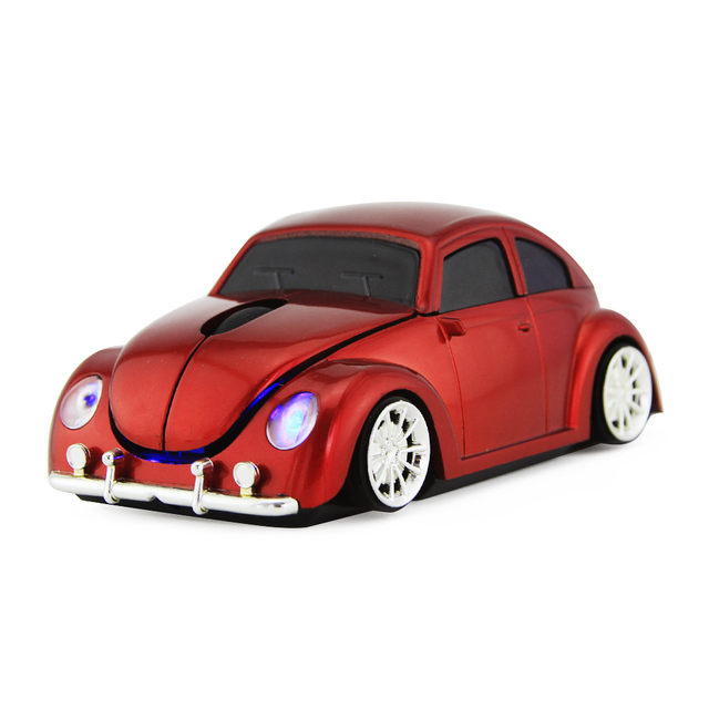 2016 Christmas Gift Wireless Mause 3D 3500DPI USB Optical 2.4G Car VW Beetle Mice Bug Beatles PC Computer Laptop Gaming Mouse