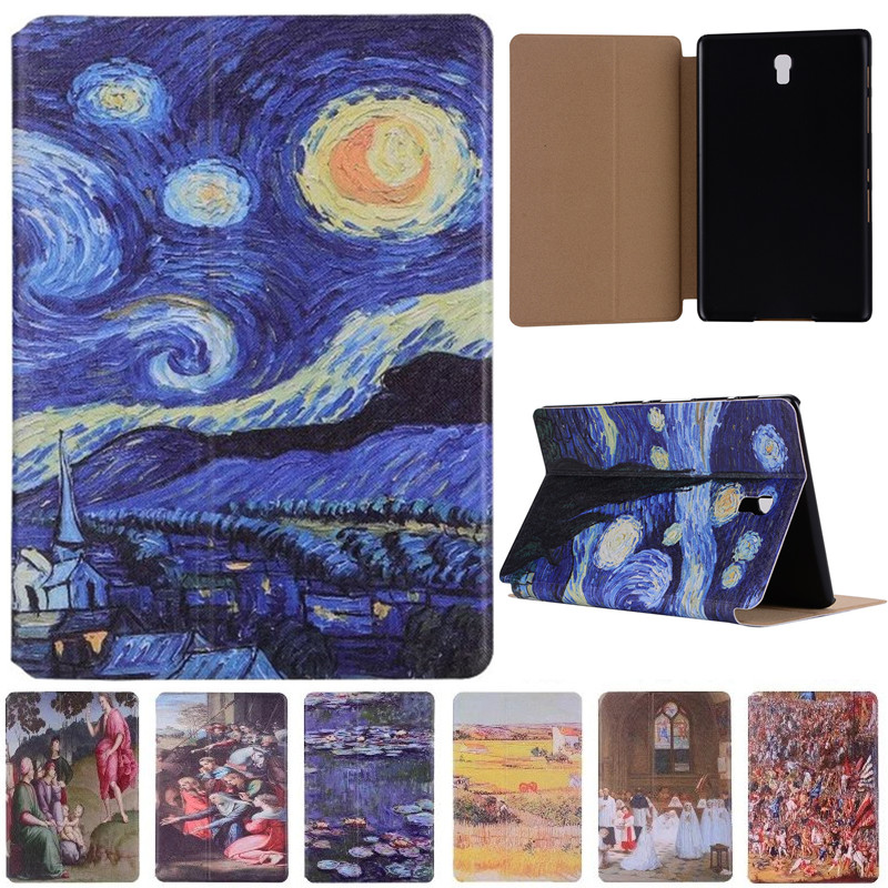 Vincent Van Gogh Starry Sky Oil Painting For Samsung Galaxy Tab S 8.4 T700 T705 Vintage Art Painted Pattern Tablet Case платье ципао about vincent van gogh yq15008 2015
