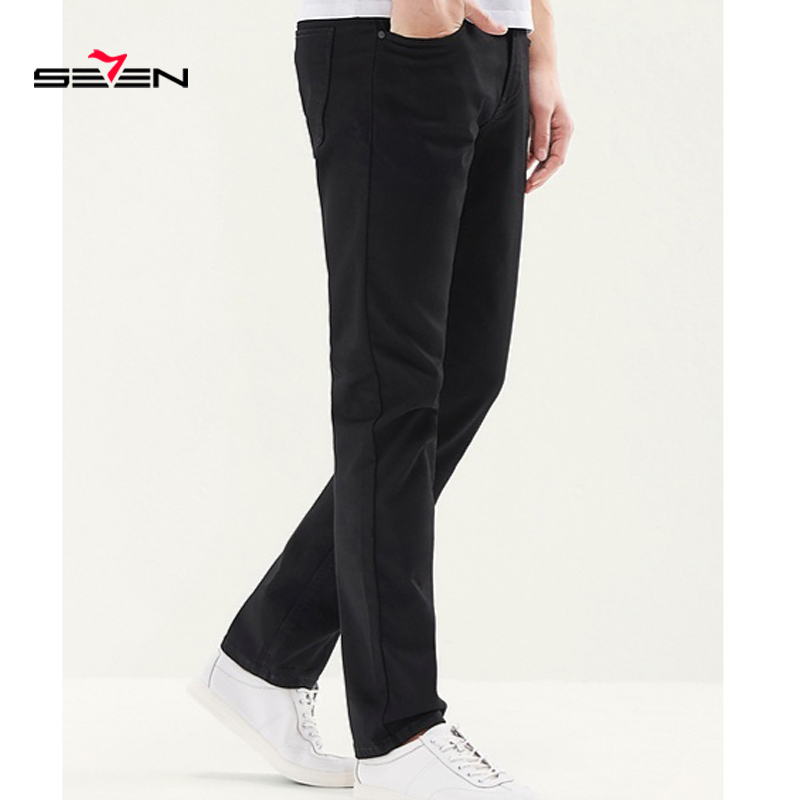 Seven7 Jeans Men High Quality Famous Brand Men's Fashion Trousers Soft Pants  Straight Slim Business Casual Jeans 116S88110